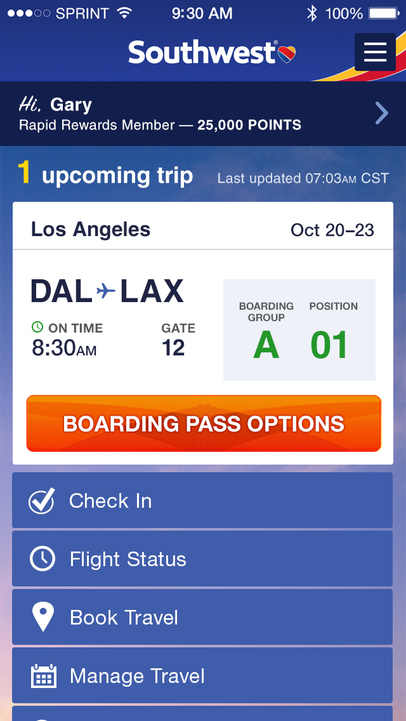 Southwest Airlines - iPhone Mobile Analytics and App Store Data