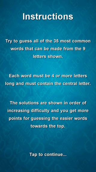 WordStorm Lite iPhone Screenshot 3