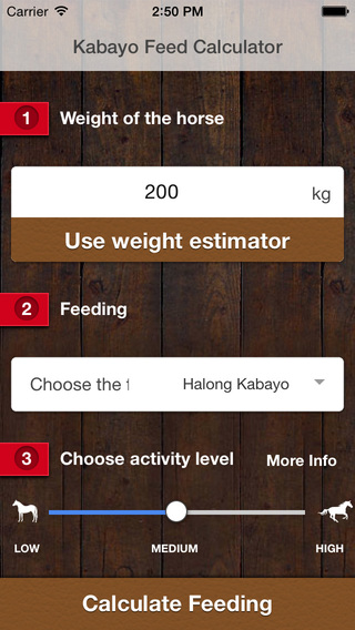 Kabayo Horse Feed Calculator