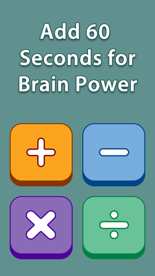 Add 60 Seconds for Brain Power - Multiplication Free