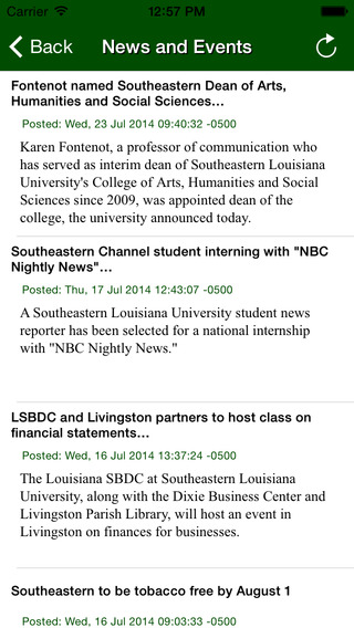Southeastern Louisiana University iPhone Screenshot 3