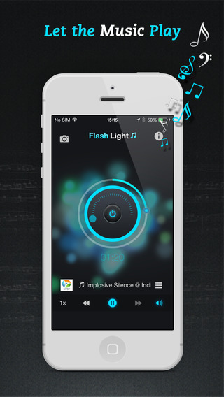 Flashlight ♫ iPhone Screenshot 2