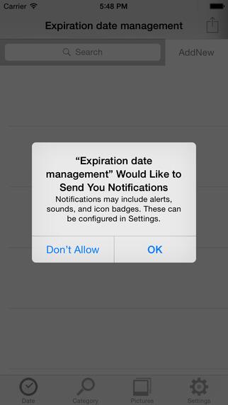 Expiration date management