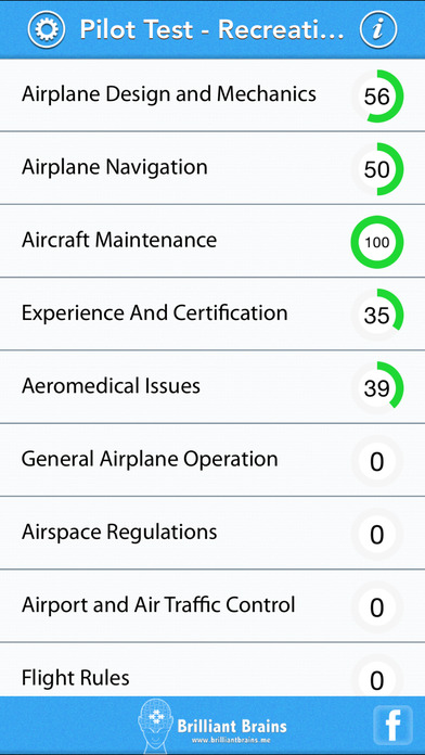 Pilot Test - Recreational Pilot Airplane (RPA) Lite iPhone Screenshot 1