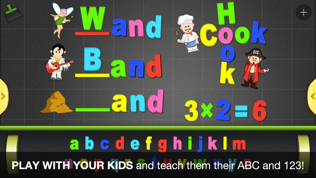 ABC - Magnetic Alphabet for Kids - Learn to write
