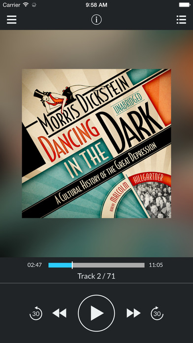 Dancing in the Dark: A Cultural History of the Great Depression by Morris Dickstein UNABRIDGED AUDIO