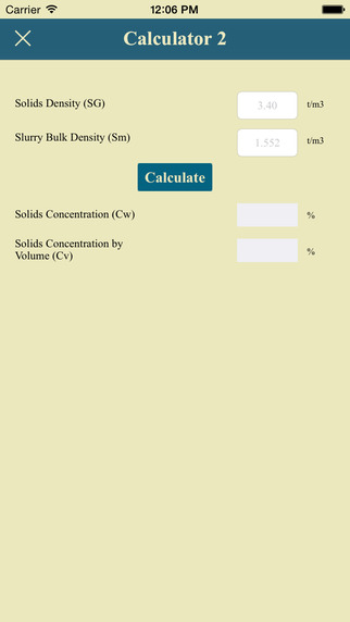 Slurry Calculator