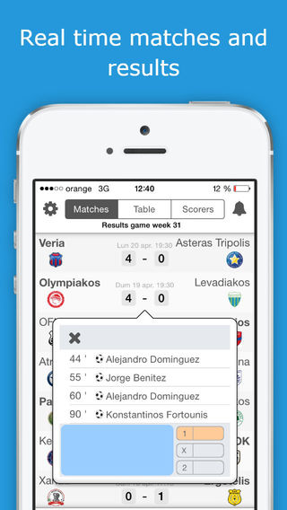 SUPER LEAGUE - Greece Football League Livescore - Check fixtures results standings scorers and video
