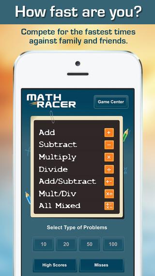 教育小软 算术竞赛:Math Racer [iOS][多图]图片1