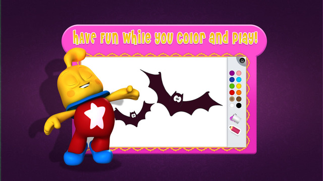 Tiny Artist Coloring Shapes Halloween Theme FREE