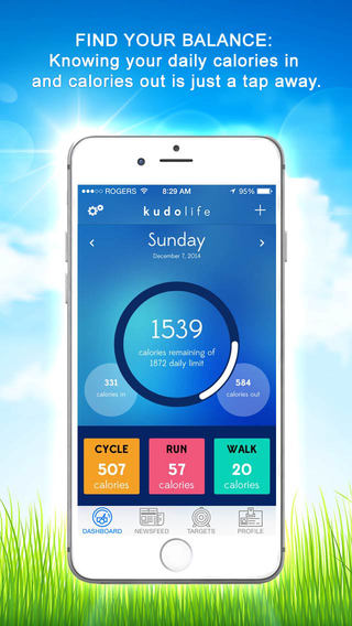 Kudolife - Weight Loss Calorie Counter Diet Fitness Activity Tracker Healthy Motivation Plus Meal Sh