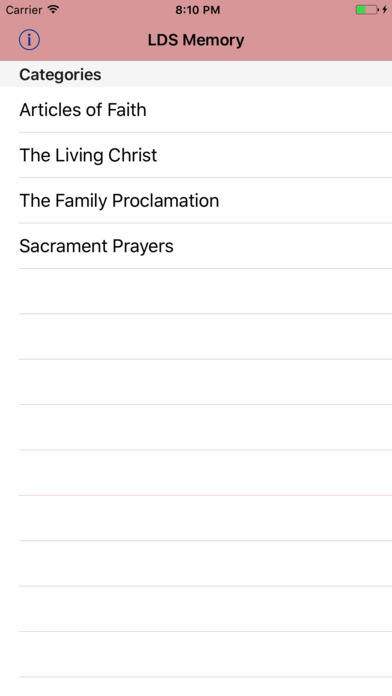 LDS Memory: Articles of Faith (AF) iPhone Screenshot 1