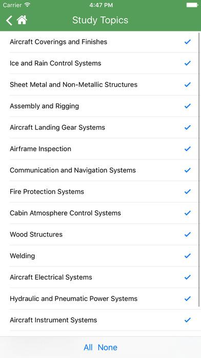 FAA Test Prep - Aviation Mechanic Airframe (AMA) iPhone Screenshot 4