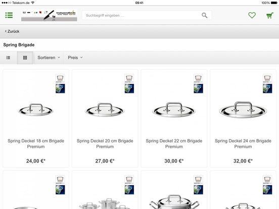 tradeparadise.de - Ihr Shop rund ums Kochen, Lifestyle, Design und Beauty iPad Screenshot 3