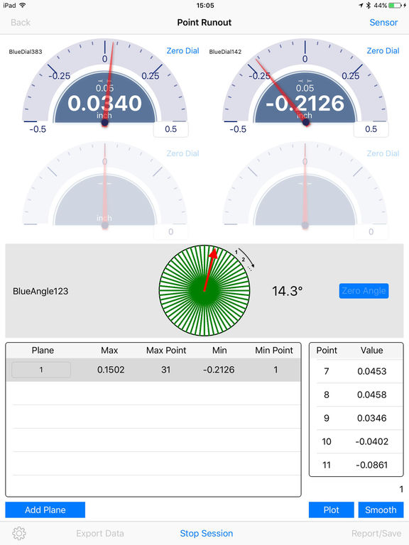 Wireless Dial Indicator : App shopper rotor runout tir test with wireless dial