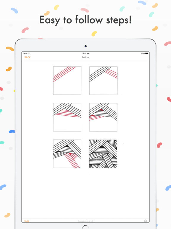 Zentangle Patterns Library - 275 tangles to learn! Screenshots