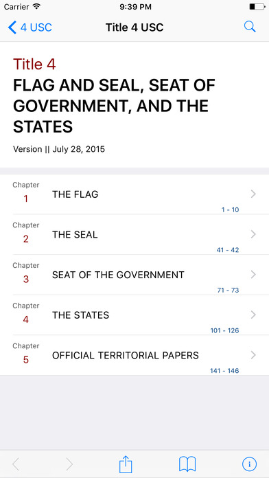 Flag and Seal, Seat of Government, and the States (Title 4 United States Code) iPhone Screenshot 1