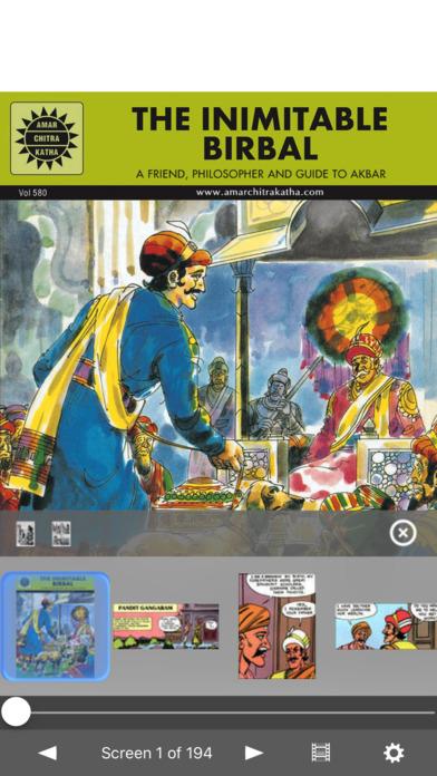 The Inimitable Birbal (The Inimitable Minister) - Amar Chitra Katha Comics iPhone Screenshot 1