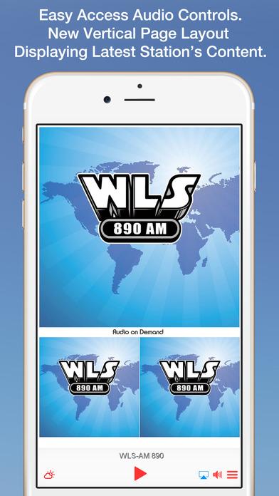 WLS 890AM iPhone Screenshot 1