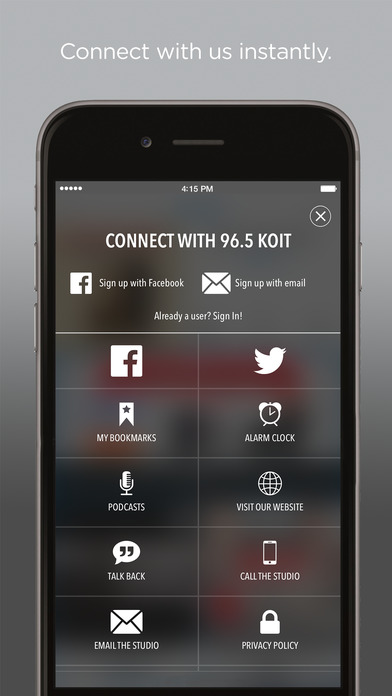 96.5 KOIT – LITE ROCK, LESS TALK – SAN FRANCISCO & THE BAY AREA iPhone Screenshot 2