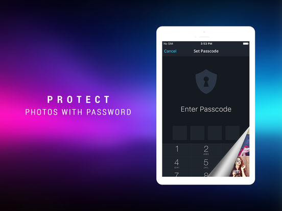 Screenshots of Photo Safe Vault - Hide Private Picture & Videos for iPad