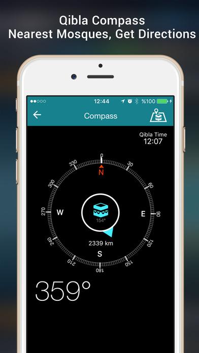 Adhan Time Pro, Quran, Qibla screenshot