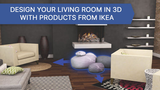 3d living room for ikea interior design planner on the for 3d room planner ipad