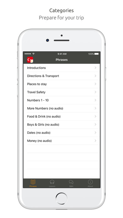 World Nomads Turkish Language Guide iPhone Screenshot 1