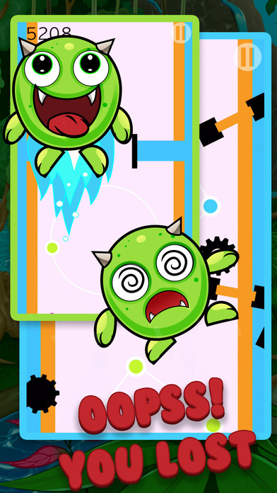 Monster Pet Don't Fall down - Endless Arcade Apps free for iPhone/iPad screenshot