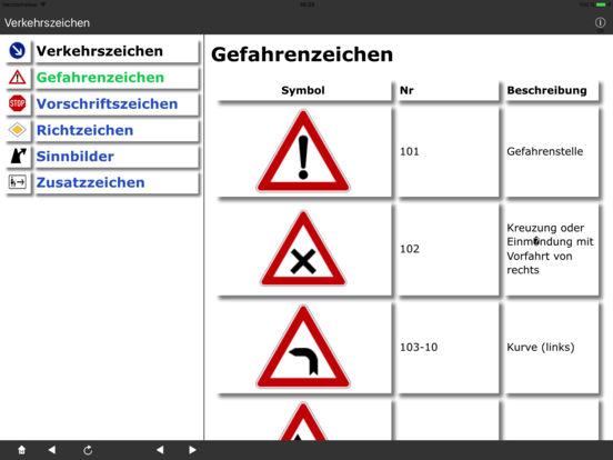 Verkehrszeichen DE iPad Screenshot 1