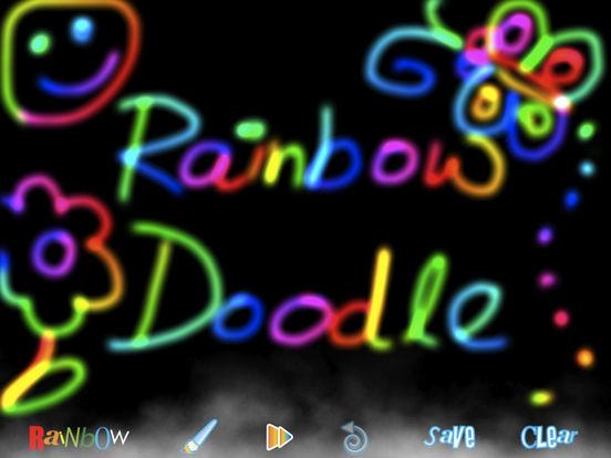 RainbowDoodle - Animated rainbow glow effect iPad Screenshot 3