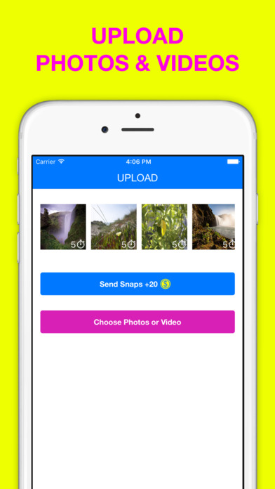 Screenshots of Stories Upload Anonymous and Score for Snapchat for iPhone