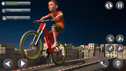 Rooftop Baby Bicycle Stunts screenshot 3