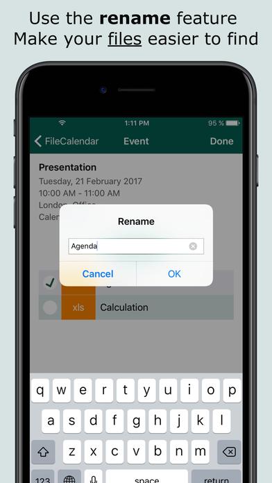 FileCalendar - Manage calendar events & add files Screenshots