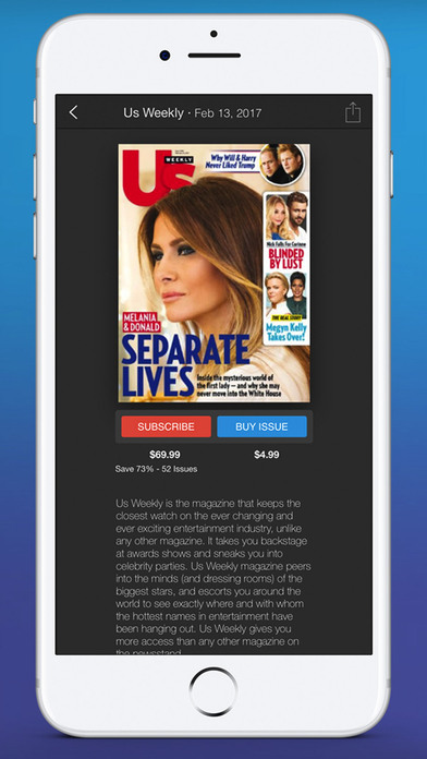 Screenshots of Zinio - The World's Magazine Newsstand for iPhone