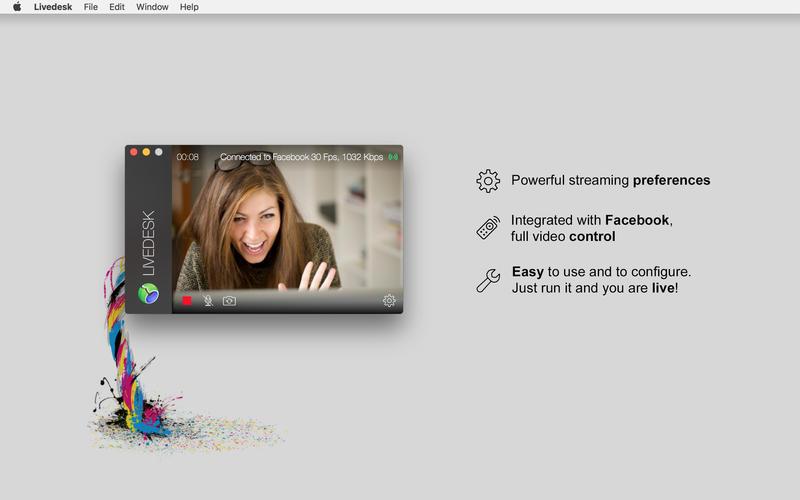 Livedesk for Facebook Live for Mac