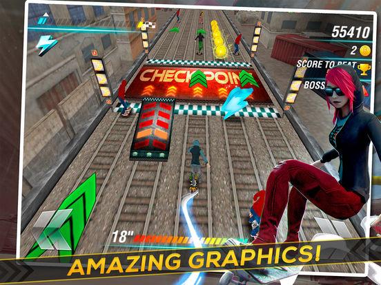 Skate Heroes . Extreme Skaters Race screenshot 5