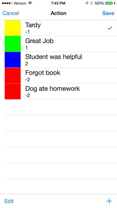 Teacher's Assistant Lite: Track and Report Student Actions, Achievements, and Behavior iPhone Screenshot 4