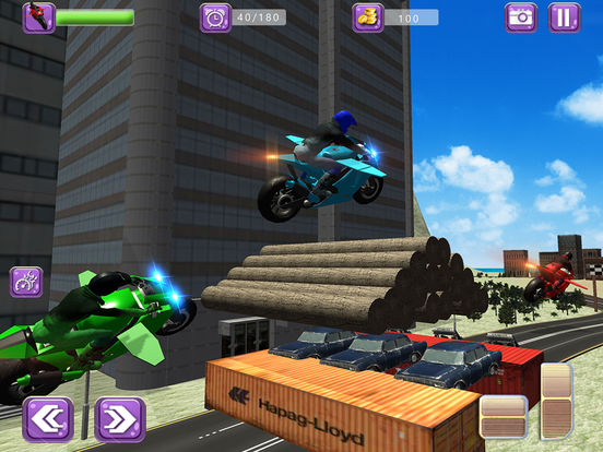 Flying Drift Bike Racing screenshot 7