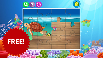 Sea creatures in deep ocean jigsaw puzzle for kids screenshot 3
