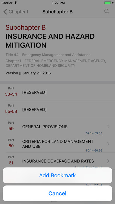 Title 44 Code of Federal Regulations - Emergency Management and Assistance iPhone Screenshot 3