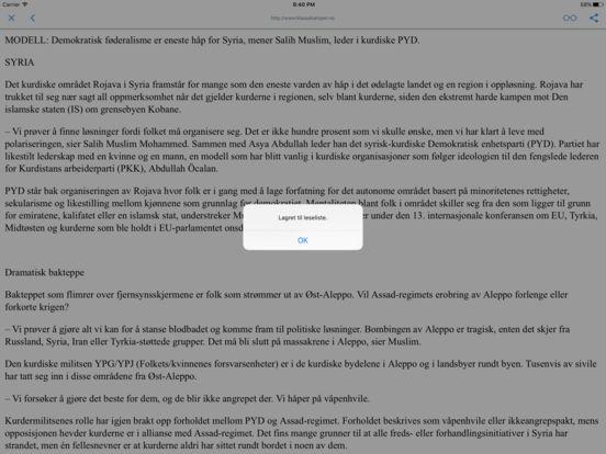 NORSKE AVISER OG TIDSSKRIFTER iPad Screenshot 2