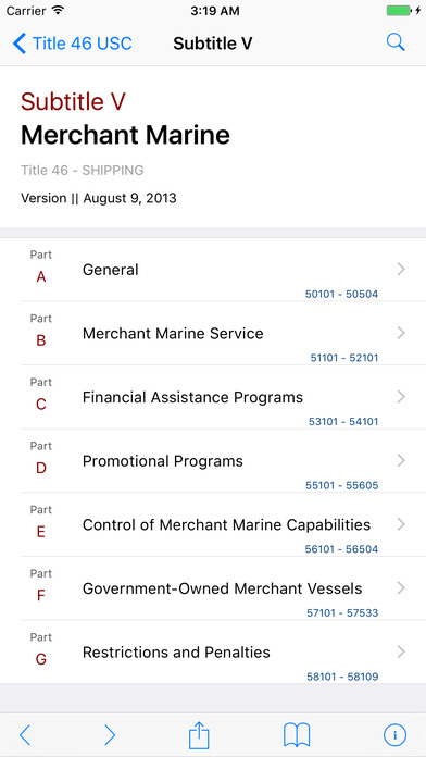 Shipping (Title 46 United States Code) iPhone Screenshot 2