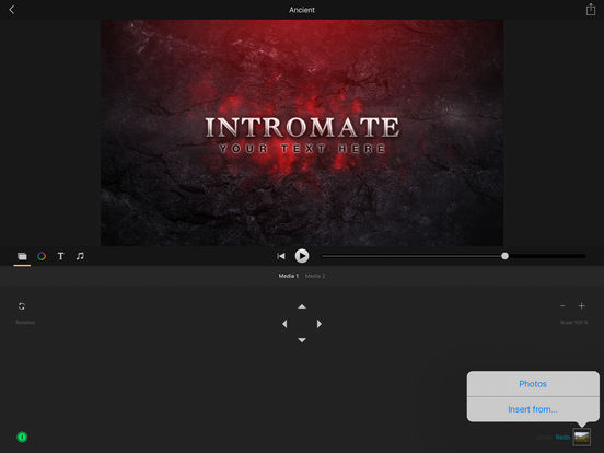 Intromate intro maker for imovie ipa cracked for ios for Imovie intros templates