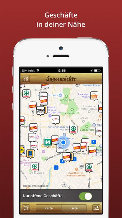Öffnungszeiten Österreich iPhone Screenshot 2