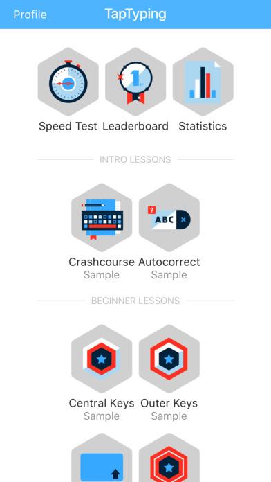 TapTyping - typing speed test iPhone Screenshot 2