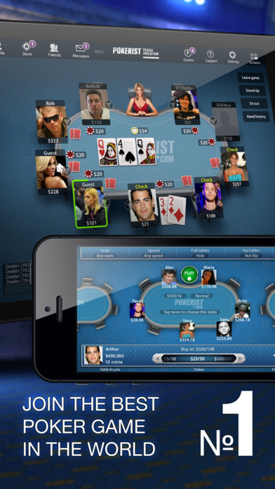 Texas Poker Pro iPhone Screenshot 1