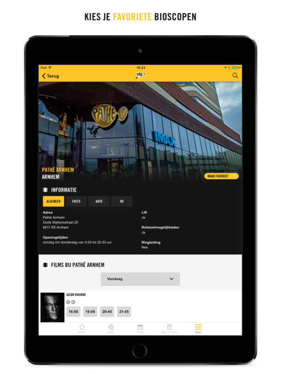 Pathé App Screenshots