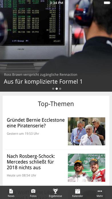 Formel1.de iPhone Screenshot 1
