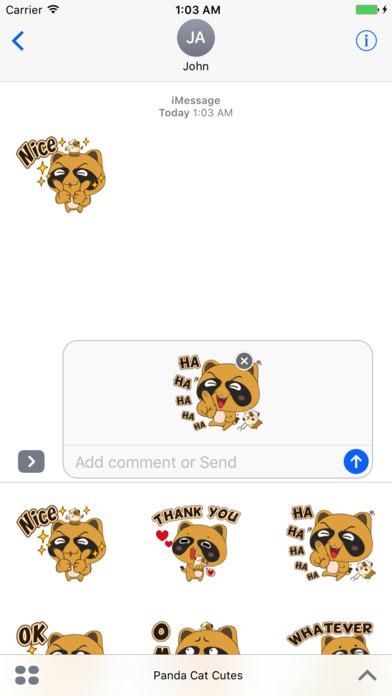Panda Cat Cutes iPhone Screenshot 1